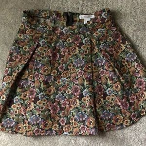 Floral Skirt- Size Medium